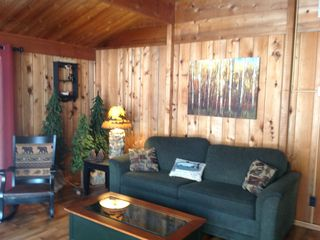 Living room / picture relaxing in this upnorth lodge feel. How cozy!