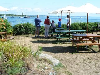 Biddeford house photo - Beatiful view & picnic tables behind Goldthwaite's in Biddeford Pool.