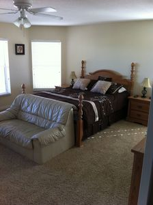 Very large master suite.