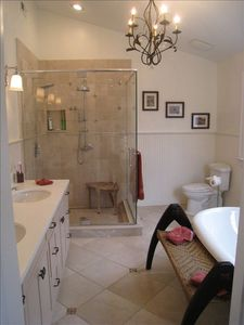 Master bath: relaxation with 2 person soaking tub
