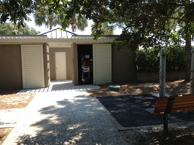 Alder Lane Beach Facilities - Restrooms, showers, vending machines