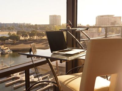 Get some work done or check email at this workstation with an amazing view!