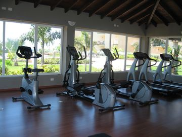 Resort has modern gym