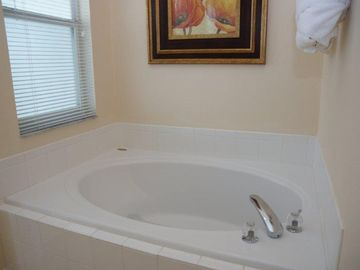 Master bathroom with soaking tub.