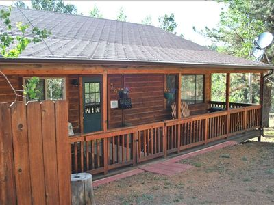 Timberridge retreat with large covered deck