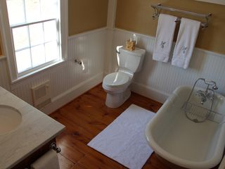 Roxbury farmhouse photo - Master bathroom.