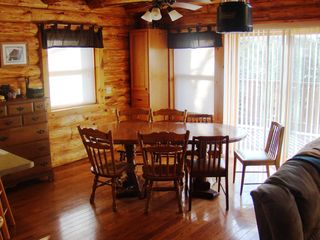 Crandon cabin photo - Dining area. Sliding patio doors to deck.