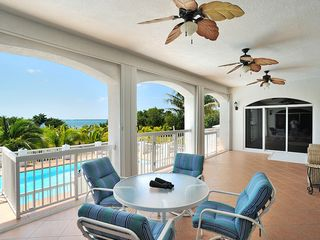 Big Pine Key estate photo - .PORCH OVERLOOKING THE POOL