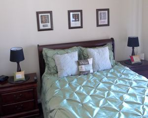 "St. George condo photo - Guest Bedroom with comfy Queen bed and 26"" Combo DVD Flat Screen"