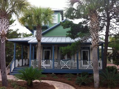 Seacrest Beach house rental - Shaded and set back from the street, yet in the heart of it all.
