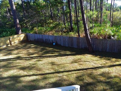 Newly sodded and fenced backyard... largest in OFV...great for kids and dogs