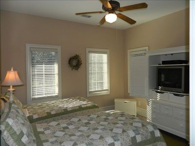 2nd Floor Twin Bedroom with TV & ceiling fan
