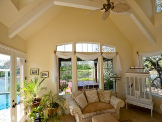 Windsor house photo - Beautiful Sun Room with views overlooking pool, vineyard and lake