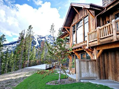Big Sky house rental - Ext - Alpine Duplex, right next to the ski bridge.