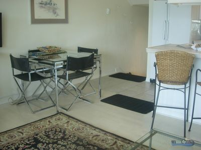 Sandpoint condo rental - glass table and chairs