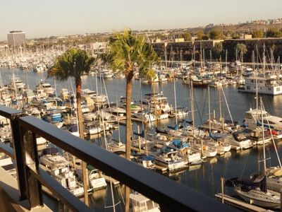 Amazing view of the marina from the balcony--it's even better at sunset!