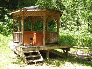 Hot Tub in Gazebo - DeSoto cabin vacation rental photo