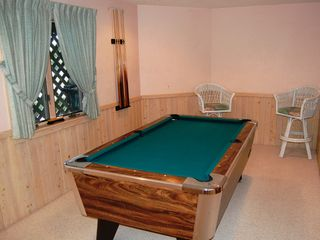 Corolla house photo - Game room with full size slate pool table on Ground Level