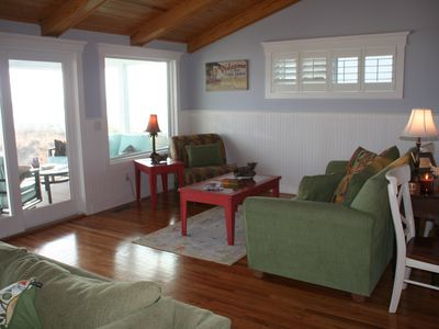 Another sitting area in upstairs family room.  Great views of the ocean