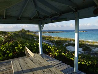 Compass Cay villa photo - View of Crescent Beach from gazebo