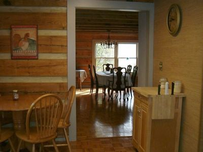 Kitchen into great room-butcher block server can be moved to dining or sunroom