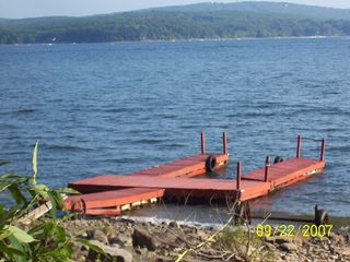 Lake Wallenpaupack cottage photo - Large 50' 3 boat dock 2 miles to other shore