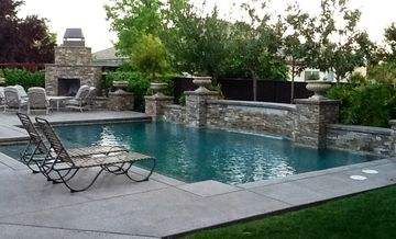 Folsom house rental - WOW! ...Amazing private luxury resort backyard! Wait til you see it at night!