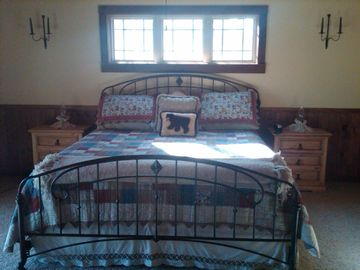 Master Bedroom has King bed
