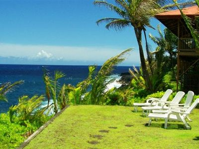 Kehena house rental - Sunning area with ocean views
