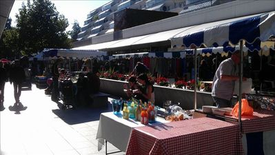 Farmers market in nearby Brunswick Shopping Centre