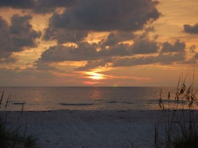Watch the sun set over the Gulf of Mexico.