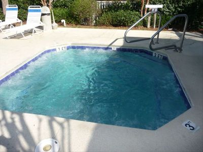 Year-Round Hot Tub is located within the Large Pool Area
