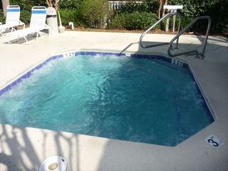 Folly Field villa photo - Year-Round Hot Tub is located within the Large Pool Area