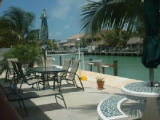 Key Colony Beach house photo - Private Patio on Canal with Gas Barbeque