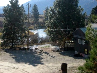 View of the Payette River from the private fire pit at Uncle Billy Bob's!