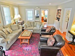 Edgartown house photo - Living Room Also Opens Out To Covered Porch Sitting Area