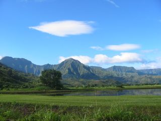 Princeville condo photo - Kauai mountains