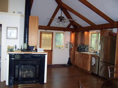 Kitchen area, entry from back