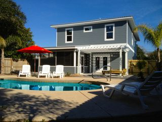 Crystal Beach house photo - Private Heated Pool, Screened Porch and Pagora