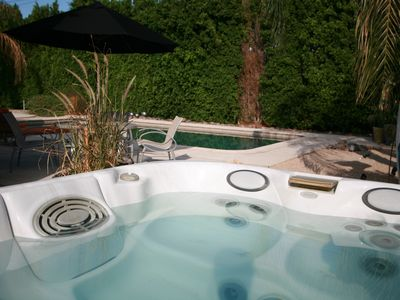 Palm Springs house rental - There is a time to sun and time to hot soak, whatever seems right