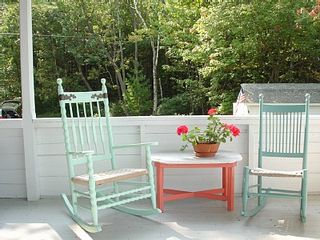 Peaks Island cottage photo - Sunny porch with water view