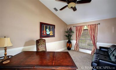 Vacation Homes in Marco Island house rental - The Executive Den; WiFi Broadcast Through House