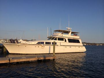 Newport yacht rental - The Ocean Romance yacht at Goat Island Marina-Dock S