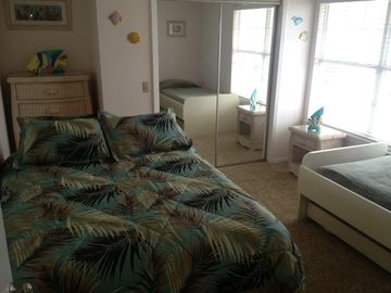 #9 2nd Bedroom with Queen Bed and 2 twins (twin trundle)
