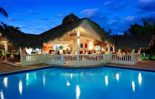 Puerto Plata villa photo - Bellini Italian Restaurant sits by the Crown Suites pool.