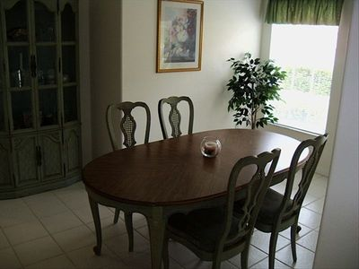 Dining Room off of the Kitchen