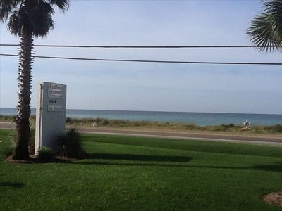 The front of the complex looking at the gulf.