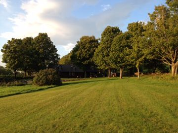 Ludlow farmhouse rental - View of the house from the lawn