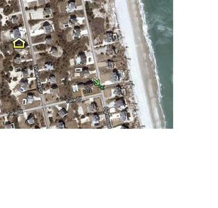 Solvent Sea is the Yellow House Icon, The Beach Access is at the Green Arrow!