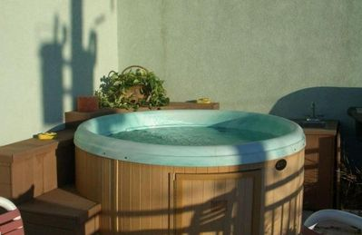 Hot Tub on Deck Adjacent to Master Suite